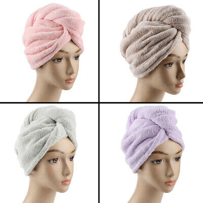 NEW RAPID DRYING HAIR TOWEL Thick Absorbent Shower Cap Fast Absorbent Decor