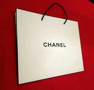 CHANEL SHOPPER, BUSTA REGALO, SACCHETTO, BORSA di carta 29x25x12,5prf GIFT BAG🎁