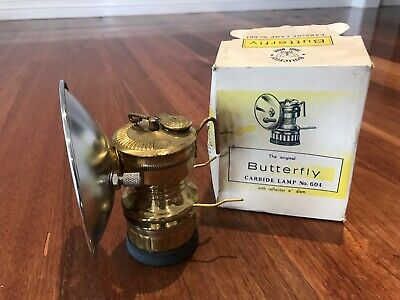 Vintage Miners Butterfly Carbide Lamp Collectable