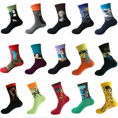 Mens Combed Cotton Socks Funny Animal Fruits Casual Fashion Breathable Stocking