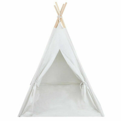 Kids Teepee Childrens Play Tent Wigwam Childs Garden Indoor Toy Canvas New Gift