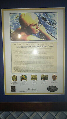 Framed Sydney 2000 Shane Gould Pin With Dna