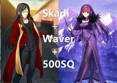 [JP] Fate Grand Order FGO (CBA)Skadi + Waver + 500SQ quartz Starter account JP