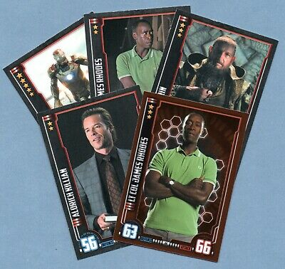 IRON MAN 3 Hero Attax Marvel Cinematic Universe. 5 trading cards incl one foil