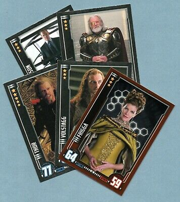 THOR Hero Attax Marvel Cinematic Universe. 5 trading cards incl one foil