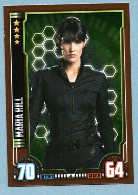 AVENGERS Hero Attax Marvel Cinematic Universe.- MARIA HILL foil card
