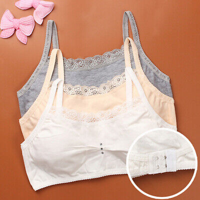 Young Girls Baby Lace Bras Underwear Vest Sport Wireless Training Puberty Br VQ