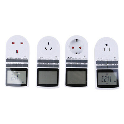 Digital Electrical Timer Plug Socket Weekly Programmable Light Switch VQ