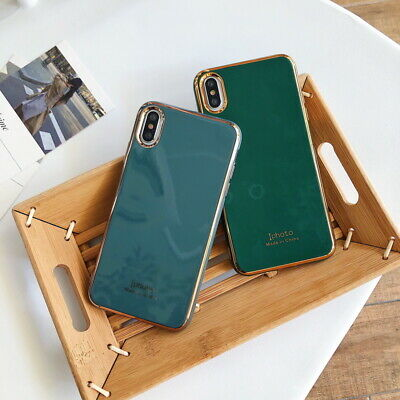 Luxury Glossy Silicone Soft Case Cover For iPhone 11 Pro Max XS X XR 8 7 Plus 6