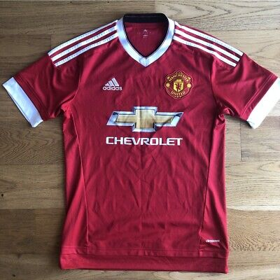 Manchester United 2015/16 Home Football Shirt Small