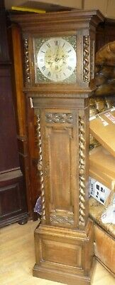 Antique Westminster Chime Grandmother Clock In Full Working Order+Strike Silent
