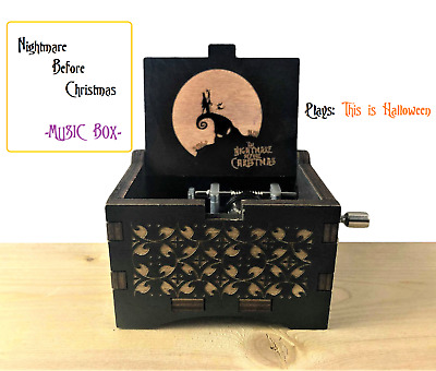 Nightmare Before Christmas Music Box - This is Halloween - Jack and Sally gift
