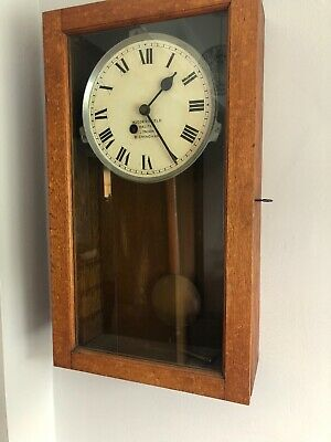 Gledhill Brook Time Recorder Fusee Clock, Clock Only Mech Removed
