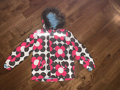 Mini Boden Girls  Modern Floral Printed Jacket Coat Size 11-12 Years