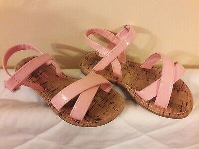 Girls Young Dimension Sandals. Pink Size 8.