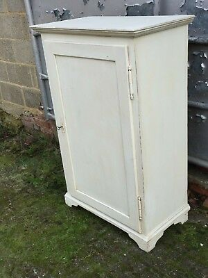 Vintage Painted Pine Cupboard with Two Fixed Shelves