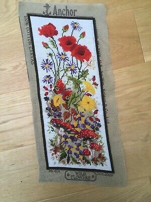 Completed Anchor Tapestry Picture -Wild Flowers