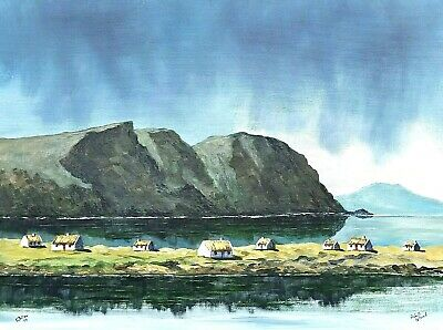 Original Paintings.Irish Art.Achill Island, Mayo.by Gerry Dillon,Dingle,Co Kerry