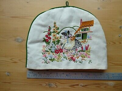 Beautiful Hand Embroidered Jane Congtsantine Tea Cosy -Country Cottage - Present