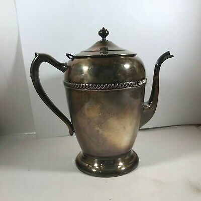 Vintage FB Rogers Silver Co Coffee Tea Pot Silver on Copper 2310