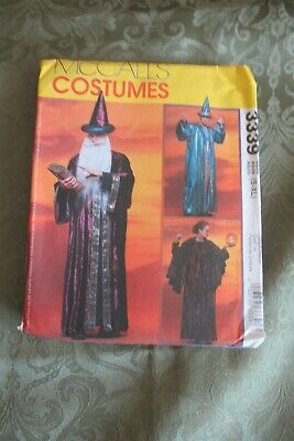 McCalls Costumes Pattern 3339 Wizards Robes Size Adult S-XL Uncut