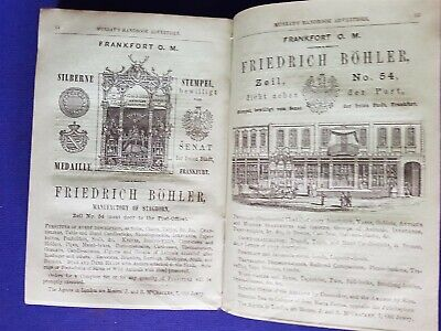 1858 Antique Murray`s Travellers Book Guide Rome Environs Central Italy Maps
