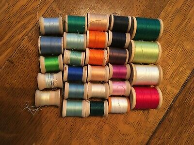 27 Spools Belding Corticelli Bel-Waxed Mercerized Cotton Thread Assorted Colors