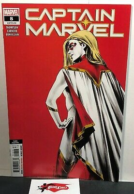 Captain Marvel #8 3rd Print Red Cover Variant First Appearance Of Star