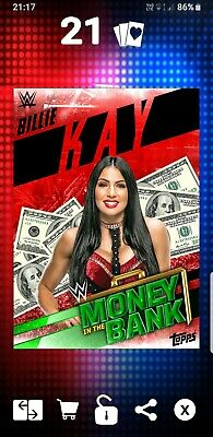 Topps WWE Slam Digital Card 76cc Billie Kay Red mitb Money in the bank 2019