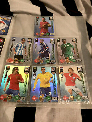 Panini Adrenalyn XL Fifa World Cup 2010 Fans' Favourite Foil cards