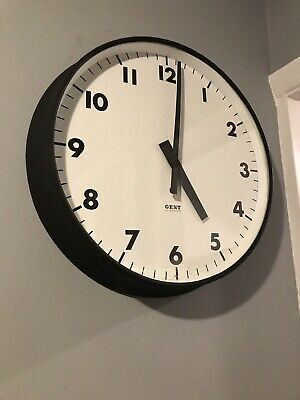 Gents Of Leicester Large Metal Electric Slave Wall Clock 18 Inch Dial