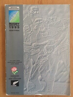 1995 Rugby World Cup England v New Zealand Semi-final programme V.Good Cond.