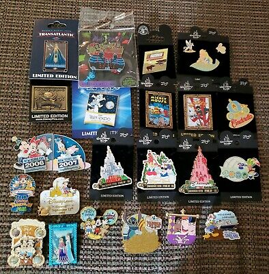 DISNEY Limited Edition Release Trading Pin Lot 25 D23 DCL 2000 Fastpass Castle