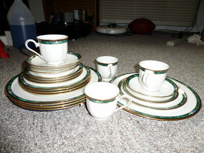 Vintage Lenox Debut Collection Kelly Dinnerware 20 Pieces Fine Bone China