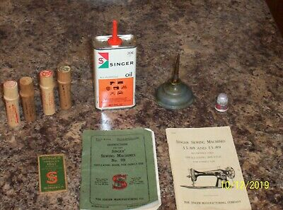 Vintage Singer Sewing Machine Instruction Booklets And More!!!