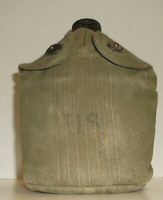 WW2 1945 S.M. Co. US Army USMC M1910 Canteen, with Cover