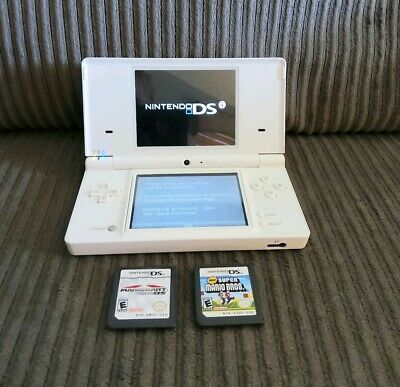 Nintendo DSi White with MarioKart DS and Super Mario Bros - Works