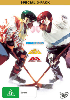 CHAMPIONS / THE MIGHTY DUCKS / D3 THE MIGHTY DUCKS (3 DVD) Collection ***