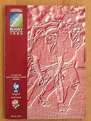 1995 Rugby World Cup France v England third place programme Excellent condition