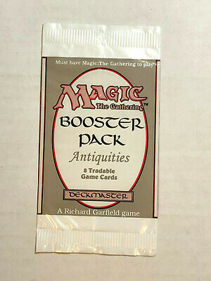 Magic the Gathering Antiquities booster pack wrapper opened EMPTY