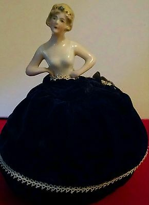 1920's Art Deco Style Porcelain half doll Pin cushion.Great condition NEW Price!