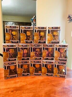 Funko Pop! Marvel Studios The First Ten Years Gold Chrome 14 Pop Lot Exclusives