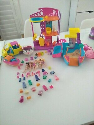 Polly Pocket Dolls And Assorted Accessories