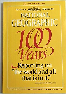 "Vintage National Geographic Magazine September 1988 Vol. 174 No. 3 ""100 Years"""