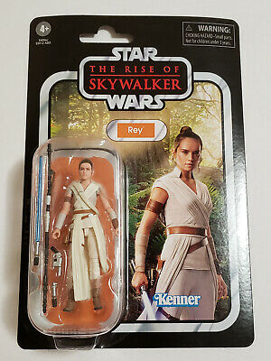 """NEW 2019 Star Wars The Rise of Skywalker REY 4"""" Vintage Collection Hasbro Kenner"""