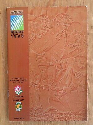 1995 Rugby World Cup England v Australia Quarter-final Programme Excellent Cond.