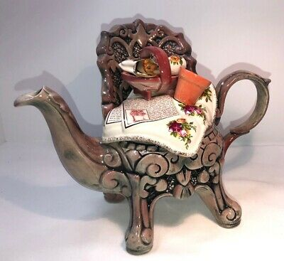 Royal Albert Cardew Country Roses Teapot chair flower pot pillow sofa garden