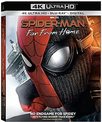 Spiderman Far From Home 4K UHD (4K+Bluray+No Digital) Discs Not Used w/Slipcover