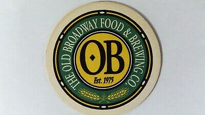 The Old Broadway Food & Brewing Co. Beer Coaster