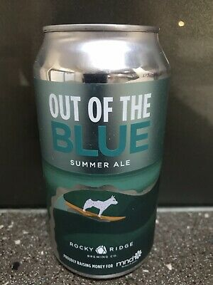 1 X 375ml Rocky Ridge - Out Of The Blue - Summer Ale Craft Beer Can